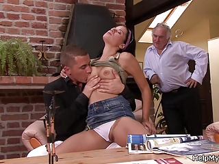 Husband's friend fucks his young wife