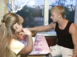 Naughty russian teen couple video